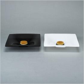 アクリル水盤剣山セット(角)白・黒