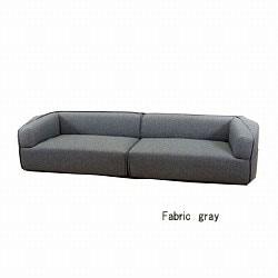 グレーファブリックのワイドソファー