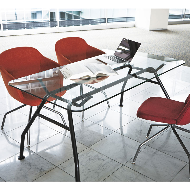 ARCHIRIVOLTO DESIGN 硝子テーブル
