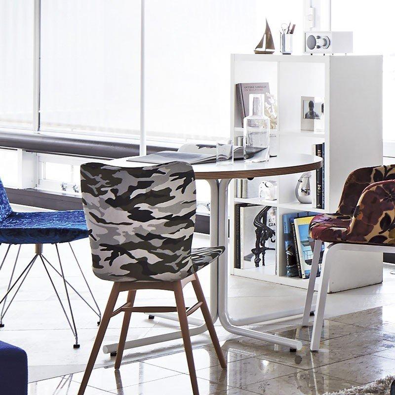 カフェテーブル積層合板風直径80cm