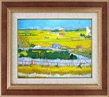 ゴッホ:ラ・クローの収穫風景