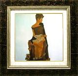 エゴン・シーレ:ゲルトルーデ・シーレの肖像(正方形)
