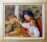 ルノワール(ルノアール):ジャン・ルノワールと一緒のガブリエルと少女