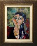 モディリアーニ:若い娘の肖像(ルイーズ)