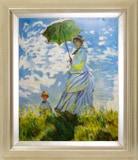 モネ:散歩 日傘をさす女
