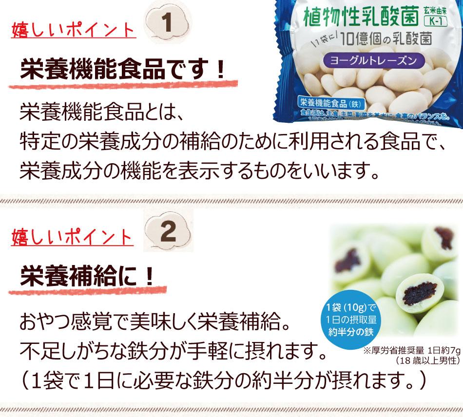 栄養機能食品 鉄 乳酸菌 が摂れる