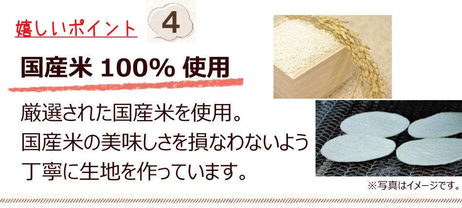 国産米100%使用