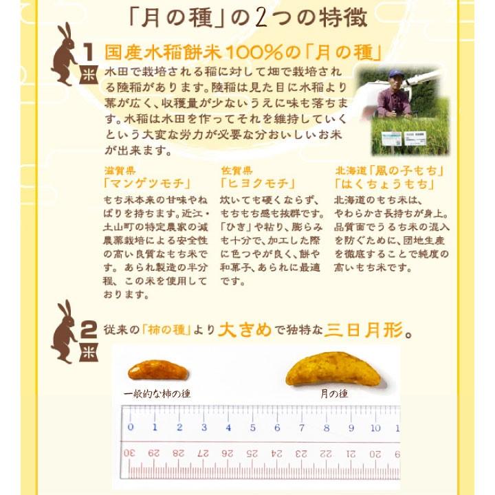 三日月形柿の種