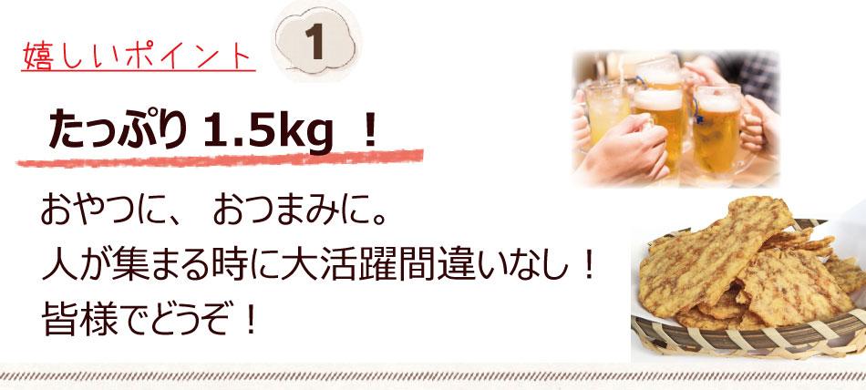たっぷり1.5キロ