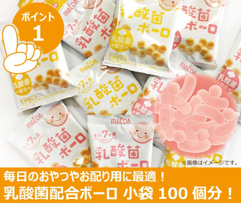 乳酸菌ボーロ小袋100個