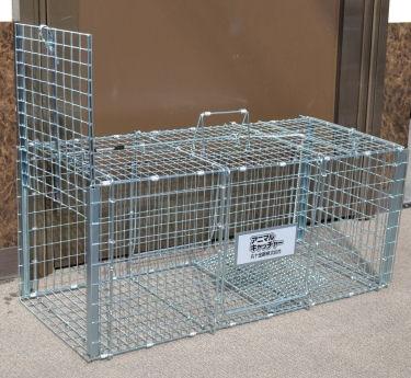 猫の保護器 大事な飼い猫の保護に 踏み板式捕獲器