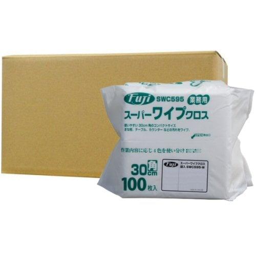 フジナップ株式会社 業務用 スーパーワイプクロス 袋入 薄手 ホワイト 30cm角