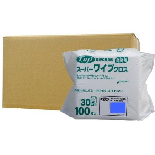 フジナップ株式会社 業務用 スーパーワイプクロス 袋入 薄手 ブルー 30cm角