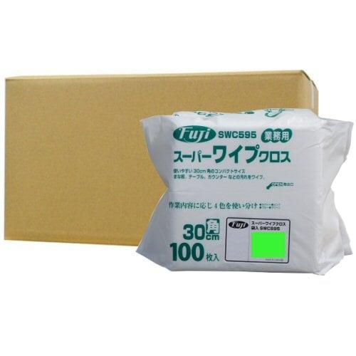 フジナップ株式会社 業務用 スーパーワイプクロス 袋入 薄手 グリーン 30cm角