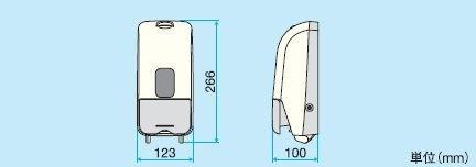 サラヤ株式会社 プッシュ式ディスペンサー MD-8600S-PHJ [41934]