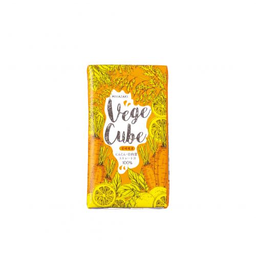 Vege Cube (にんじん・日向夏 ストレート汁100%)12本入り