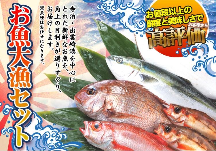 鮮魚通販|お魚大漁セット・角上の旬の魚をお届け