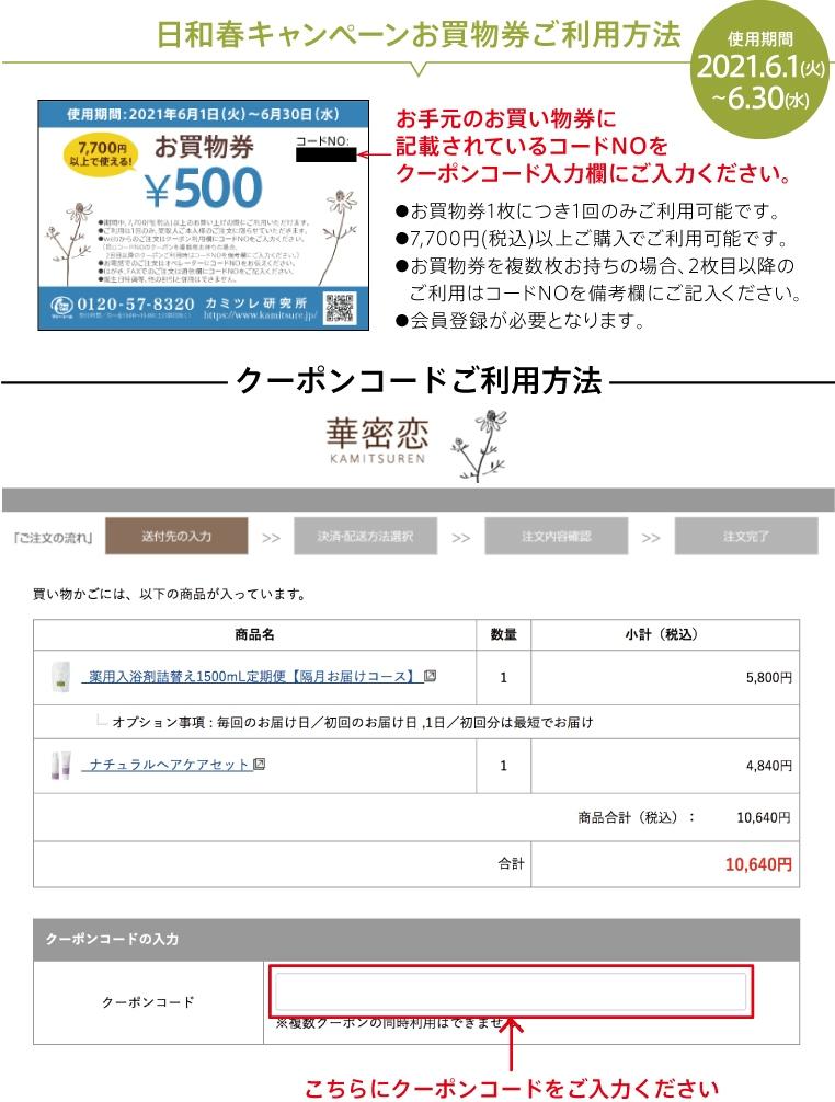 お買い物券ご利用方法