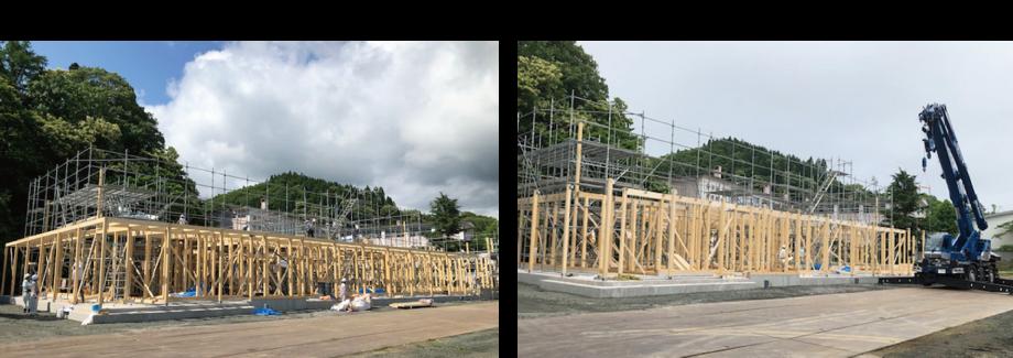 2021年7月中旬の「函館五稜乃蔵」建築現場写真