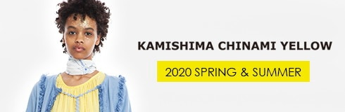 KASHIMA CHINAMI YELLOW 2020 SPRING & SUMMER