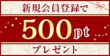 会員登録500pt