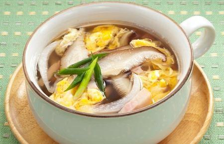 しいたけたっぷり卵スープ