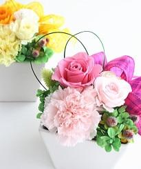 キュートなプレゼント(ピンク)/プリザーブドフラワー