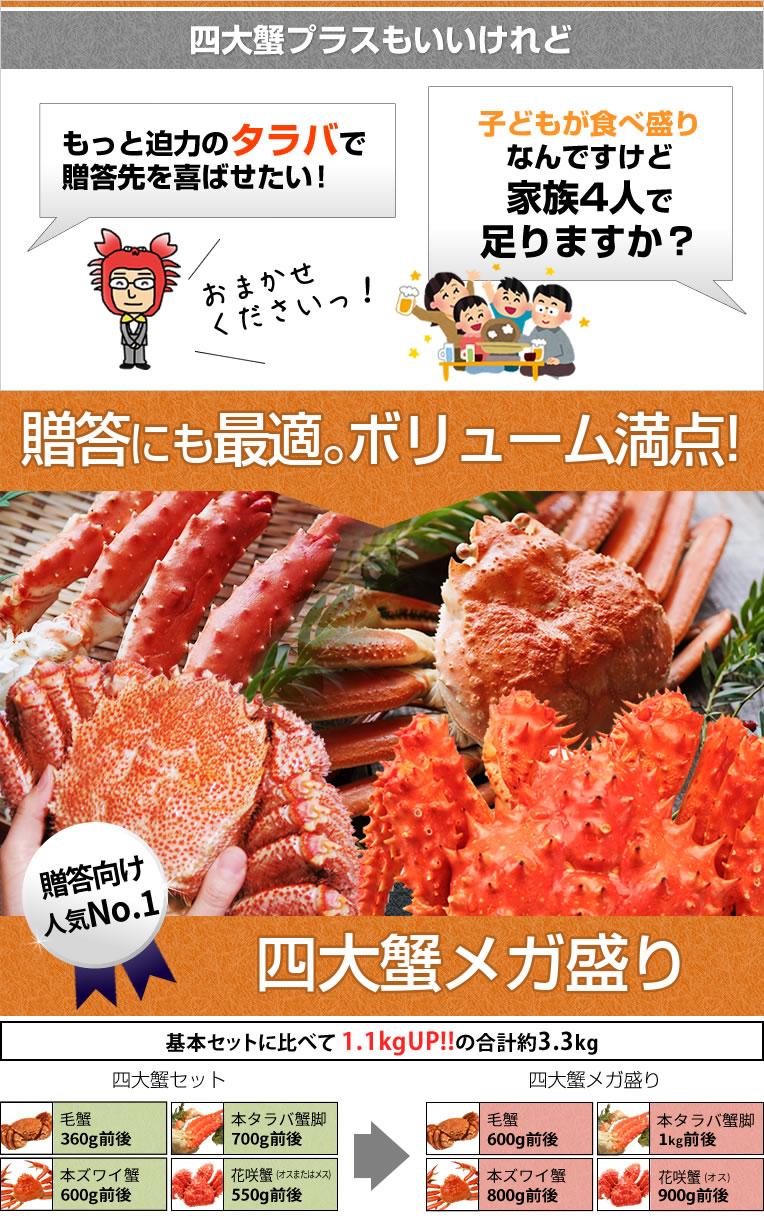 かにまみれの四大蟹セット