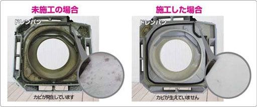 防カビ抗菌コート高耐久の施工イメージ