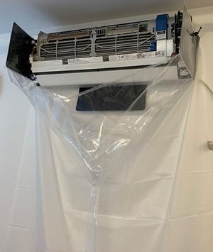 エアコン洗浄シート壁掛け用オープン型