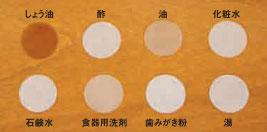 ボンド木床専用ワックス/耐汚染性テスト