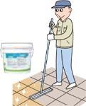 クローザー&ポイント補修剤の施工方法 部分補修&軽汚染エリア/ユシロンコート クローザー