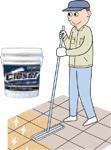 クローザー&ポイント補修剤の施工方法 全面補修&重汚染エリア/ユシロンコート クローザー