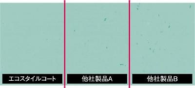 耐ブラックヒールマーク性比較表/リンレイ エコスタイルコート