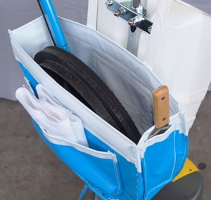 便利なポケット付き/セイワ・パッド台バッグ