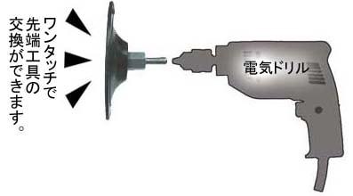 ワンタッチで先端工具の交換可能!/サンフレックス 100mmバックパッド
