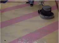 RMCクリーナーでワックス床の表面洗浄