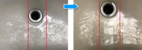 洗浄力比較/リンレイ R'SPROデイリー水まわりクリーナー