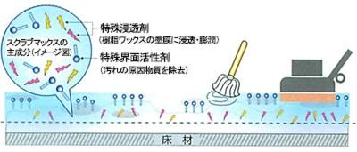 スクラブマックスの洗浄メカニズム1-2/ペンギン スクラブマックス