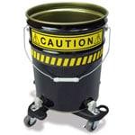 ペール缶用警告シール使用例