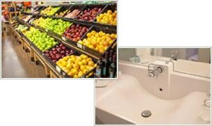 食品売り場や洗面所にも/サンストーン