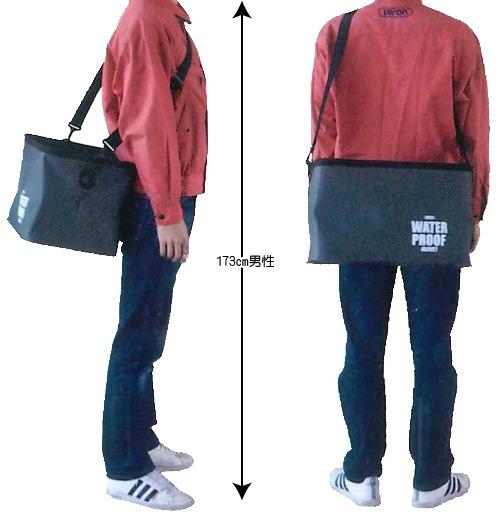 両手が使える肩紐つき/アプソン 防水バッグ(水切りスノコ付き)