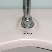 男性用便器の上部の汚れの洗浄 施工前/スマート フラッシュ