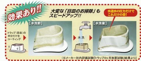 トイレコートシステム/大変な「目皿のお掃除」もスピードアップ!!