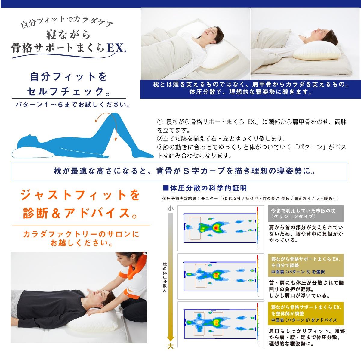 寝ながら骨格サポートまくらEX.説明画像4