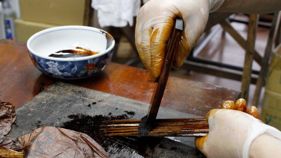 箸の塗り直しサービス