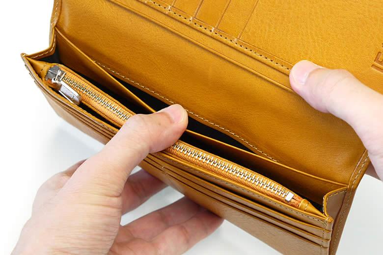 札入れの奥にもポケットを1つ