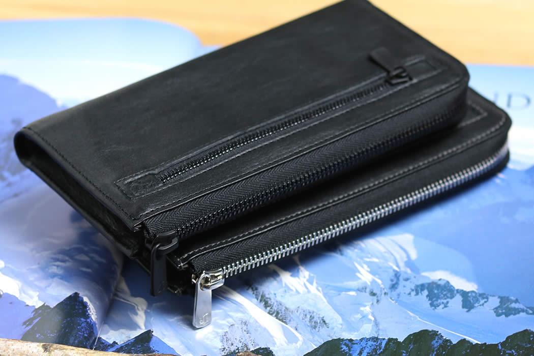 スマホウォレット 長財布 スマートフォン スマホ 入る L型長財布 L型 ファスナー 革 栃木レザー