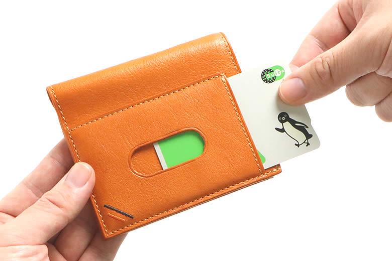 サッと使える表面の定期ポケット