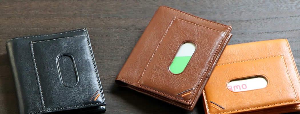 二つ折り財布 定期入れ パスケース 革 栃木レザー 定期入れ付き